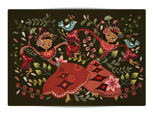 New Yapong Dancer Canvas Placemat
