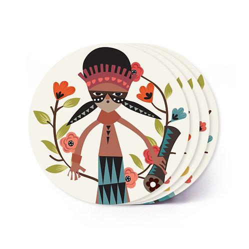 Mambesak Papua Board Coaster