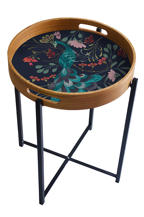 Peacock Garden Tray/Table