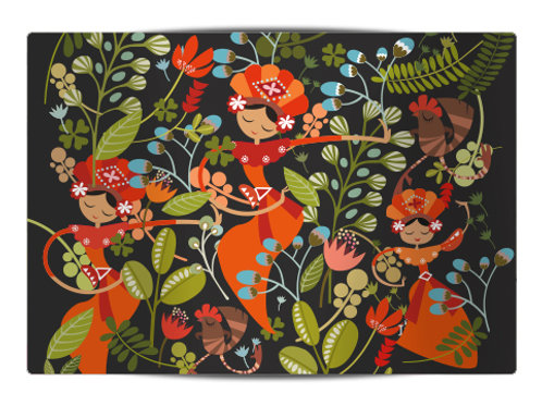 Yapong Jakarta Old Dark Canvas Placemat
