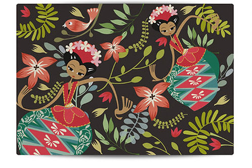Dancing Jakarta Brown Canvas Placemat