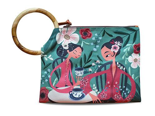 Tea Talk Peranakan Embroidered Clutch