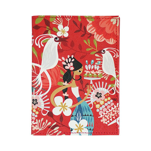 Tiga Dara Red Passport Holder