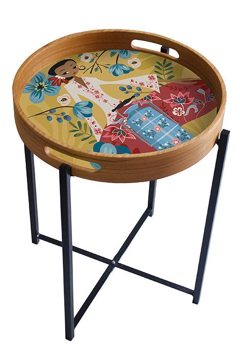 Vintage Picnic Peranakan Series Tray/Table