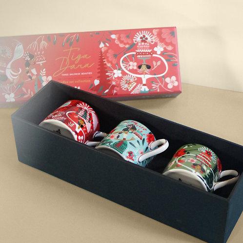 Tiga Dara Red Coffee Cup Hampers