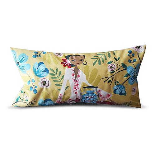 Vintage Picnic Peranakan Series Embroidered Long Cushion Cover