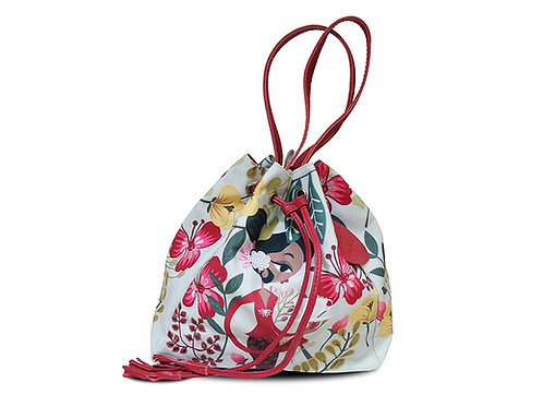 Katresna Light Embroidered Bucket Bag
