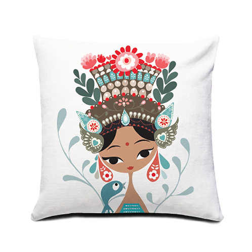 Little Bird and the Janger Dancer Cushion Cover