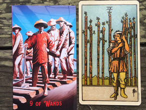 Side-By-Side: 9 of Wands