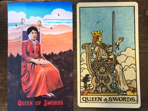 Side-By-Side: Queen of Swords