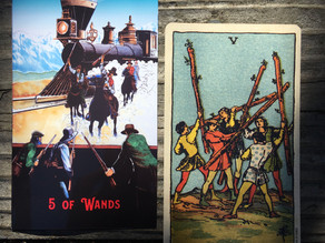 Side-By-Side: 5 of Wands