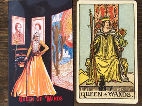 Side-By-Side: Queen of Wands