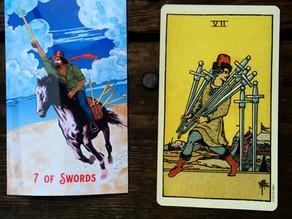 Side-By-Side: 7 of Swords