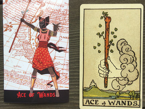 Side-By-Side: Ace of Wands