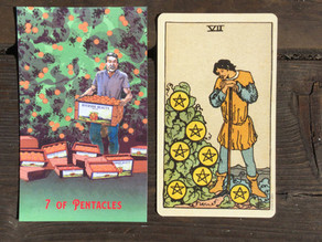 Side-By-Side: 7 of Pentacles