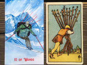 Side-By-Side: 10 of Wands