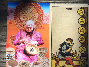 Side-By-Side: 8 of Pentacles