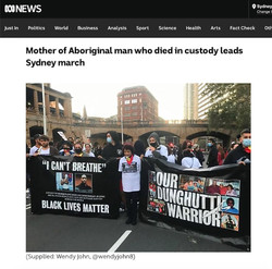 ABC Live blog covering #BLM rally