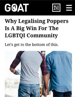 Poppers story in GOAT
