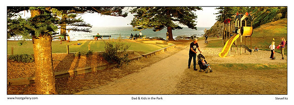 Dad & Kids in the Park