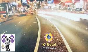 K Road lit up at night