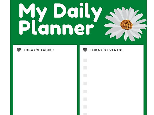 Planner Pages/ Mailed Hardcopy