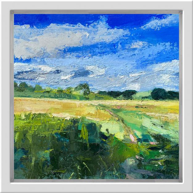 Summer Fields, 30cm x 30cm, oil on alumi