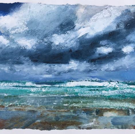Big Clouds Over Porthmeor Beach