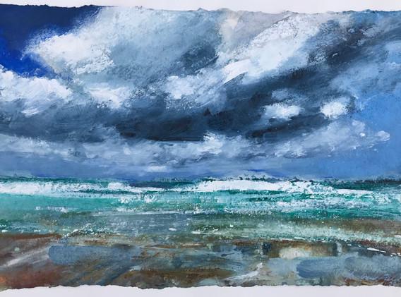 Big_Clouds_Over_Porthmeor_Beach,_28cm_x_