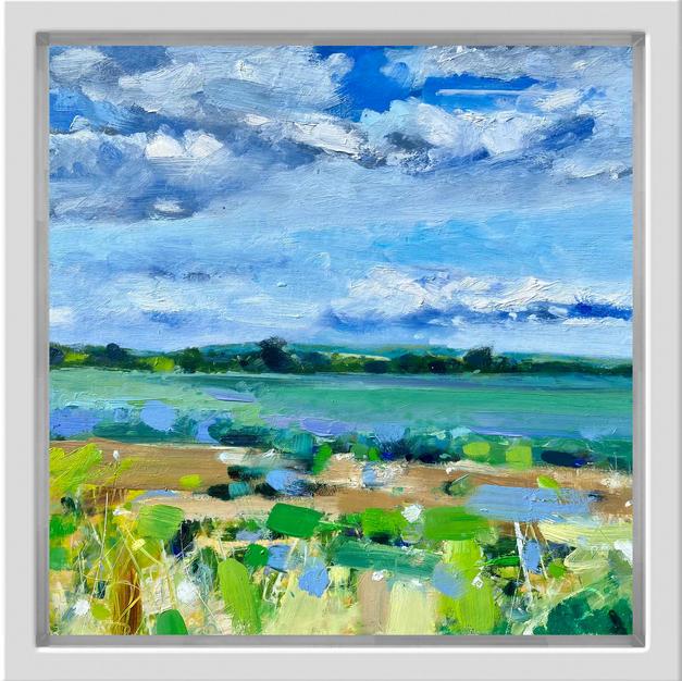 Lilac Fields, 30cm x 30cm, oil on alumin