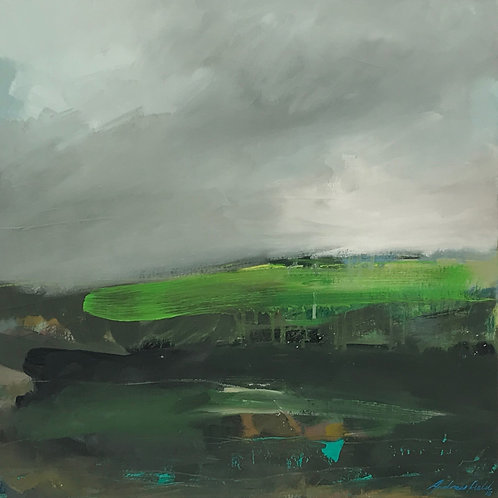 Old Holland Light, oil on canvas, 50cm x 50cm