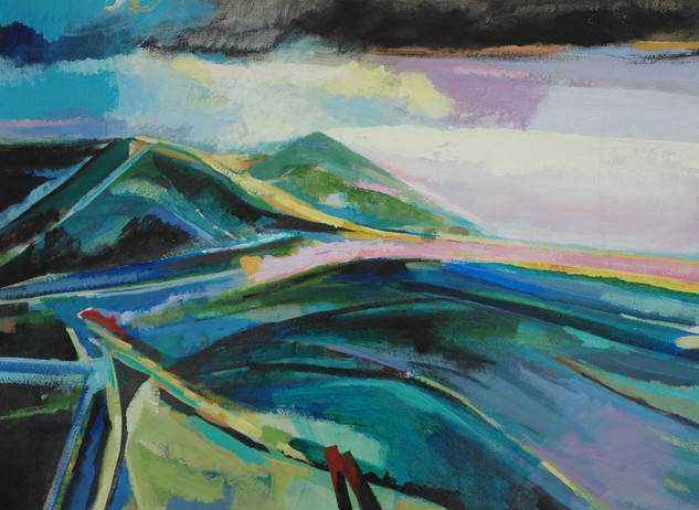 Teal and Pink Headland
