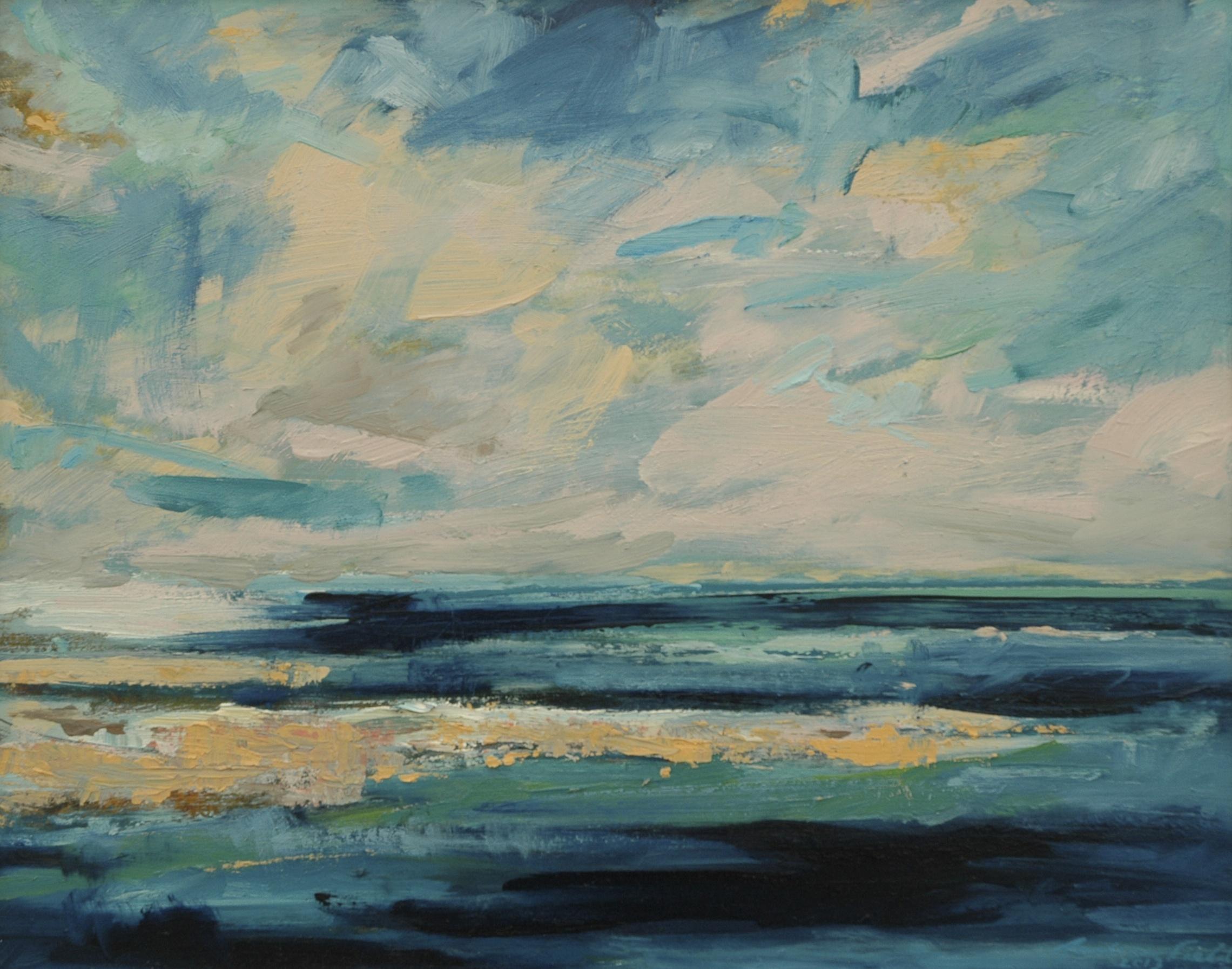 Turquoise Sky, Burnt Sienna Sand
