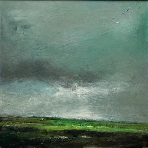 Sea of Green, oil on aluminium, 53cm x 53cm