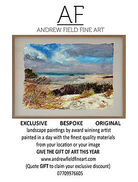 Quarter Page Advert Andrew Field Fine Ar