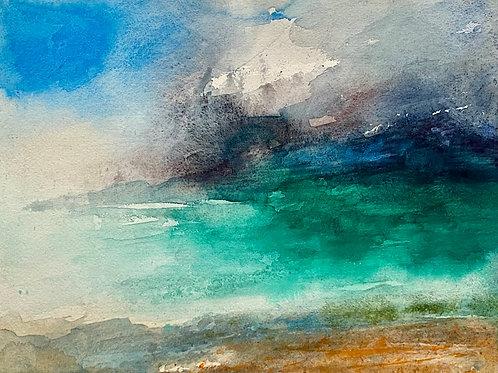 Harlyn Bay Beach, Midday Storm