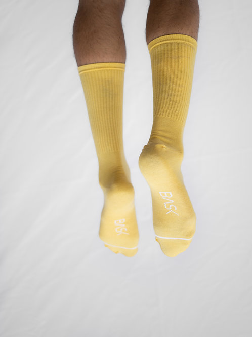 Socks Light Yellow