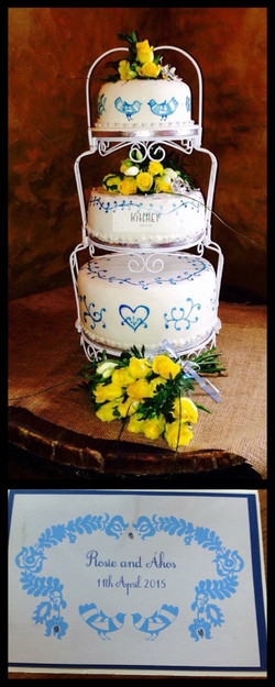 Hungarian & Delft Blue Wedding Cake