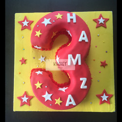Number 3 Chocolate Cake