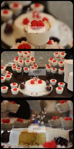 Red Rose Wedding Cupcakes & Cake