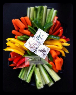 Crudités with selection of dips