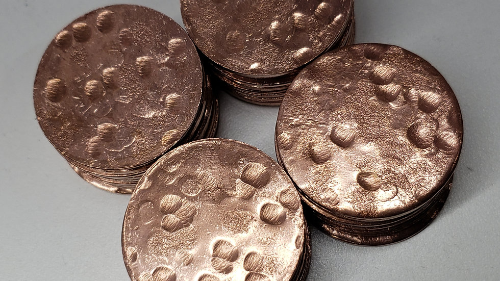 1 1/2' Blank Copper Coins (40ct)