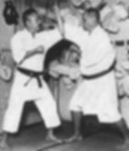 Konishi and Motobu, two martial arts masters