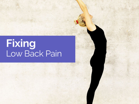 Fixing Low Back Pain