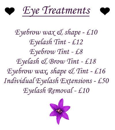 Eye Treatments at Litte Miracles Bauty spa