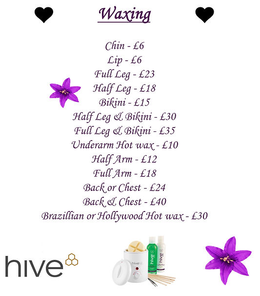 Waxing beaut treatments at beauty spa in basildon