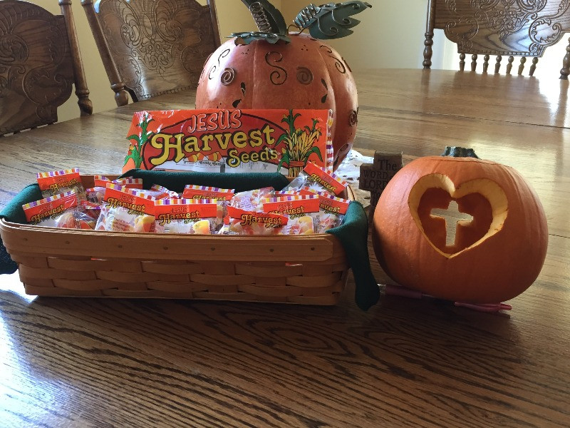 Candy and Christian carved pumpkin