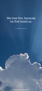 Beautiful cloud, sky with scripture