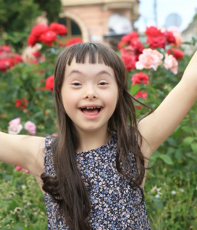 Happy Down Syndrome Girl