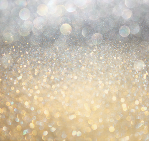 Gold and silver sparkles